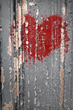 σπασμένη καρδιά γκράφιτι Στοκ Εικόνα