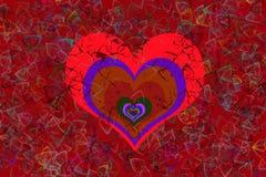 Σπασμένη καρδιά ζωηρόχρωμη Στοκ φωτογραφία με δικαίωμα ελεύθερης χρήσης