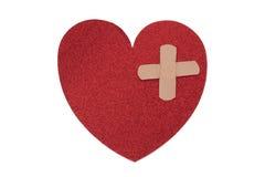 σπασμένη καρδιά καθορισμού Στοκ Φωτογραφία