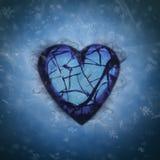 Σπασμένη καρδιά στο φύσημα χιονιού ελεύθερη απεικόνιση δικαιώματος