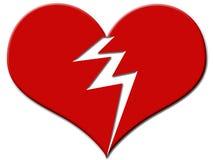 σπασμένη καρδιά Στοκ Εικόνες