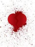 Σπασμένη καρδιά στα peaces Στοκ Εικόνα