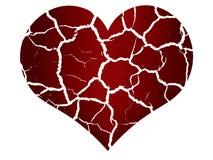 Σπασμένη καρδιά στα peaces Στοκ εικόνα με δικαίωμα ελεύθερης χρήσης