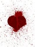 Σπασμένη καρδιά στα peaces Στοκ Φωτογραφία