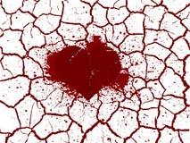 Σπασμένη καρδιά στα peaces Στοκ εικόνες με δικαίωμα ελεύθερης χρήσης