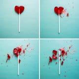 Σπασμένη καρδιά lollipop Στοκ εικόνα με δικαίωμα ελεύθερης χρήσης