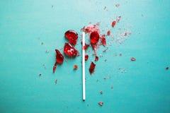 Σπασμένη καρδιά lollipop Στοκ φωτογραφίες με δικαίωμα ελεύθερης χρήσης