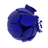 Σπασμένη μπλε σφαίρα γυαλιού Στοκ Φωτογραφία