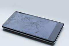 Σπασμένη οθόνη smarthphone στοκ εικόνες με δικαίωμα ελεύθερης χρήσης