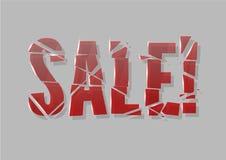 Σπασμένη πώληση γυαλιού Στοκ Εικόνα