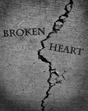 Σπασμένη χαμένη καρδιά αγάπη Jilted Στοκ φωτογραφίες με δικαίωμα ελεύθερης χρήσης