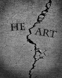 Σπασμένη χαμένη καρδιά αγάπη Jilted Στοκ Εικόνες
