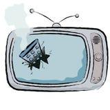 Σπασμένη TV απεικόνιση Στοκ Εικόνες