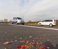 Σπασμένοι προβολείς ενός αυτοκινήτου Στοκ φωτογραφία με δικαίωμα ελεύθερης χρήσης