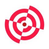 Σπασμένοι στόχος τομείς της τοξοβολίας Κόκκινο λευκό Εικονίδιο, σύμβολο, πρότυπο Απεικόνιση αποθεμάτων
