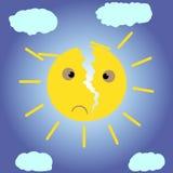 Σπασμένος ήλιος ελεύθερη απεικόνιση δικαιώματος
