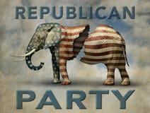 Σπασμένος δημοκρατικός ελέφαντας Στοκ Εικόνες