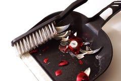 Σπασμένος καθαρισμός μπιχλιμπιδιών Στοκ Φωτογραφίες