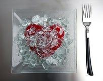 σπασμένος κατάλογος επιλογής καρδιών σήμερα Στοκ Εικόνες
