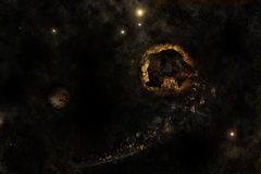 σπασμένος κόσμος πλανητών Στοκ Εικόνες