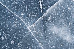 Σπασμένος πάγος στη λίμνη Στοκ φωτογραφία με δικαίωμα ελεύθερης χρήσης