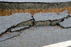 Σπασμένος δρόμος ασφάλτου Στοκ εικόνα με δικαίωμα ελεύθερης χρήσης
