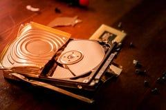 Σπασμένος σκληρός δίσκος Στοκ φωτογραφία με δικαίωμα ελεύθερης χρήσης