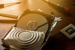 Σπασμένος σκληρός δίσκος Στοκ Εικόνα