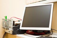 σπασμένος υπολογιστής Στοκ Φωτογραφία