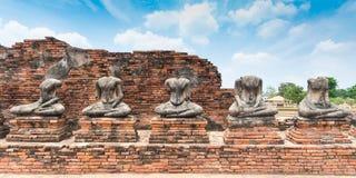 Σπασμένο άγαλμα του Βούδα σε Ayuttaya Στοκ φωτογραφίες με δικαίωμα ελεύθερης χρήσης