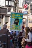 Σπασμένο έμβλημα της Μεγάλης Βρετανίας Στοκ Εικόνες