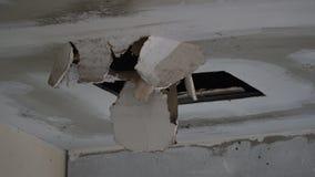 σπασμένο ανώτατο όριο Στοκ φωτογραφίες με δικαίωμα ελεύθερης χρήσης