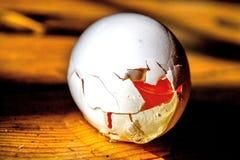 σπασμένο αυγό Στοκ Φωτογραφίες