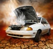 σπασμένο αυτοκίνητο κάτω Στοκ Φωτογραφίες