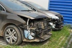 σπασμένο αυτοκίνητο Στοκ Εικόνα