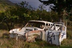 σπασμένο αυτοκίνητο Στοκ Εικόνες