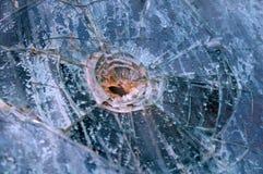 σπασμένο γυαλί επίδρασης Στοκ Εικόνα