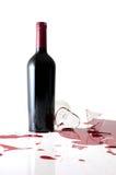 Σπασμένο γυαλί κρασιού στοκ εικόνες