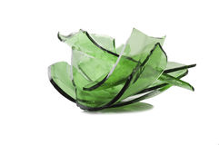 σπασμένο γυαλί πράσινο Στοκ φωτογραφία με δικαίωμα ελεύθερης χρήσης