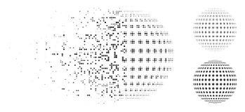Σπασμένο εικονίδιο σφαιρών Pixelated ημίτονο διαστιγμένο περίληψη Ελεύθερη απεικόνιση δικαιώματος