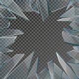 Σπασμένο διάνυσμα πλαισίων παραθύρων γυαλιού ελεύθερη απεικόνιση δικαιώματος
