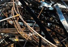 Σπασμένο και οξυδωμένο μέταλλο φύλλων Στοκ φωτογραφία με δικαίωμα ελεύθερης χρήσης