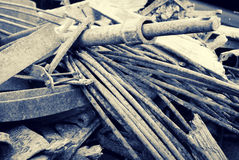 Σπασμένο και οξυδωμένο μέταλλο φύλλων Στοκ Εικόνες