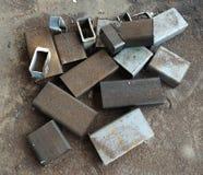 Σπασμένο και οξυδωμένο μέταλλο φύλλων στοκ φωτογραφίες με δικαίωμα ελεύθερης χρήσης