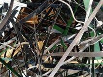Σπασμένο και οξυδωμένο μέταλλο φύλλων στοκ εικόνα