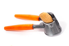 σπασμένο καρύδι κροτίδων Στοκ εικόνα με δικαίωμα ελεύθερης χρήσης