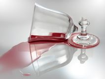 σπασμένο κρασί γυαλιού Στοκ φωτογραφία με δικαίωμα ελεύθερης χρήσης