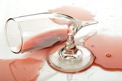 σπασμένο κρασί γυαλιού Στοκ φωτογραφίες με δικαίωμα ελεύθερης χρήσης