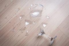 σπασμένο κρασί γυαλιού Στοκ Φωτογραφία