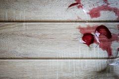 σπασμένο κρασί γυαλιού Στοκ Εικόνες